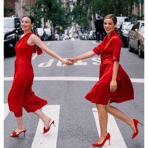 Gal meets glam ruby royal satin dress